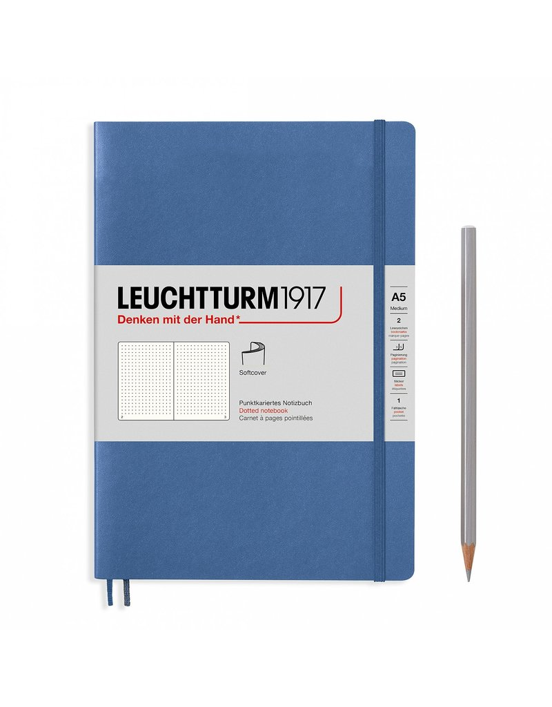 Leuchtturm Dotted Denim  Softcover Medium Notebook