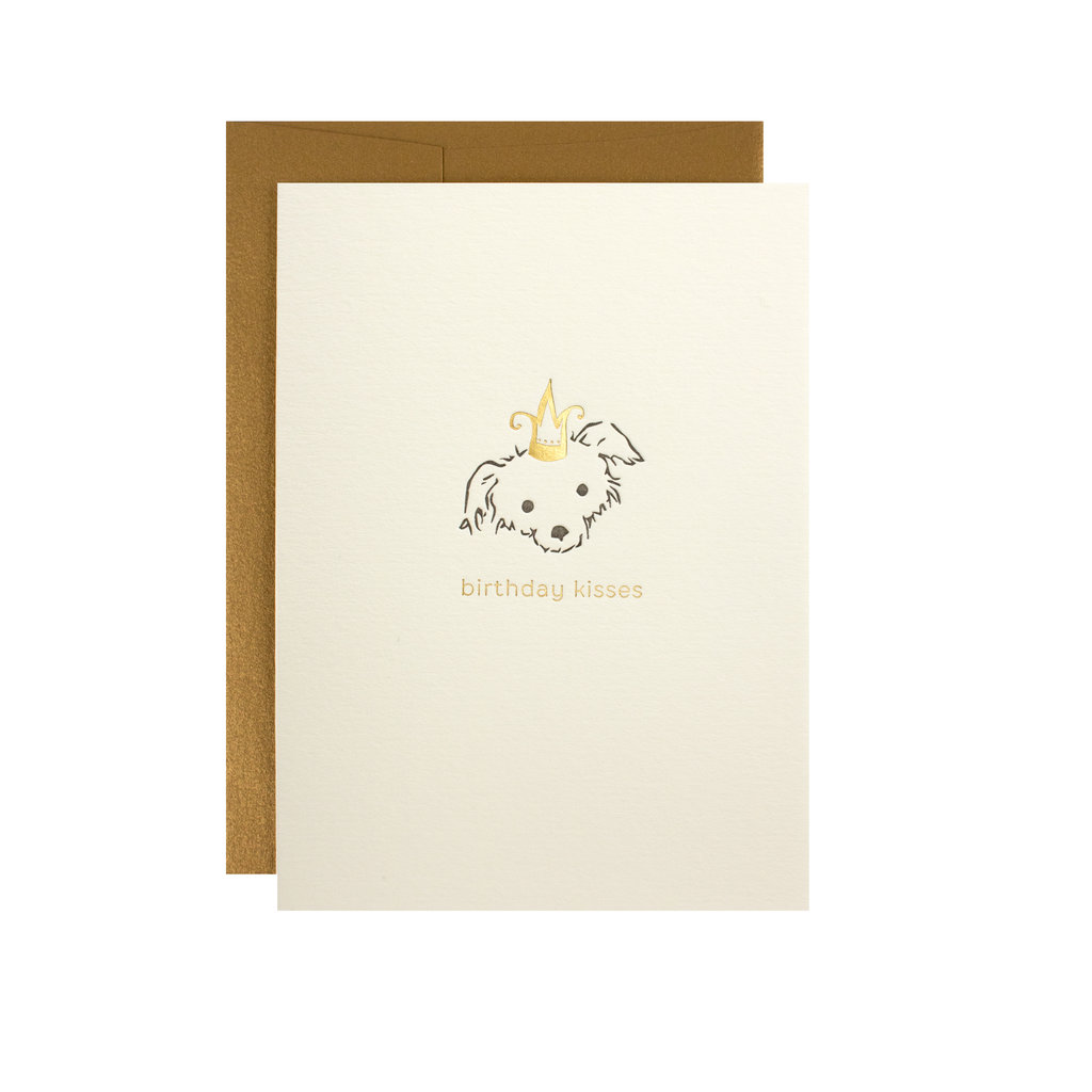 Oblation Papers & Press birthday kisses puppy card