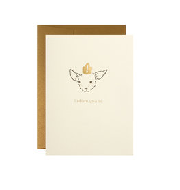 Oblation Papers & Press I Adore You So Deer Card