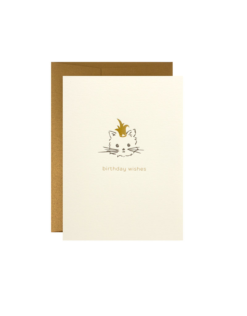 Oblation Papers & Press birthday wishes cat card
