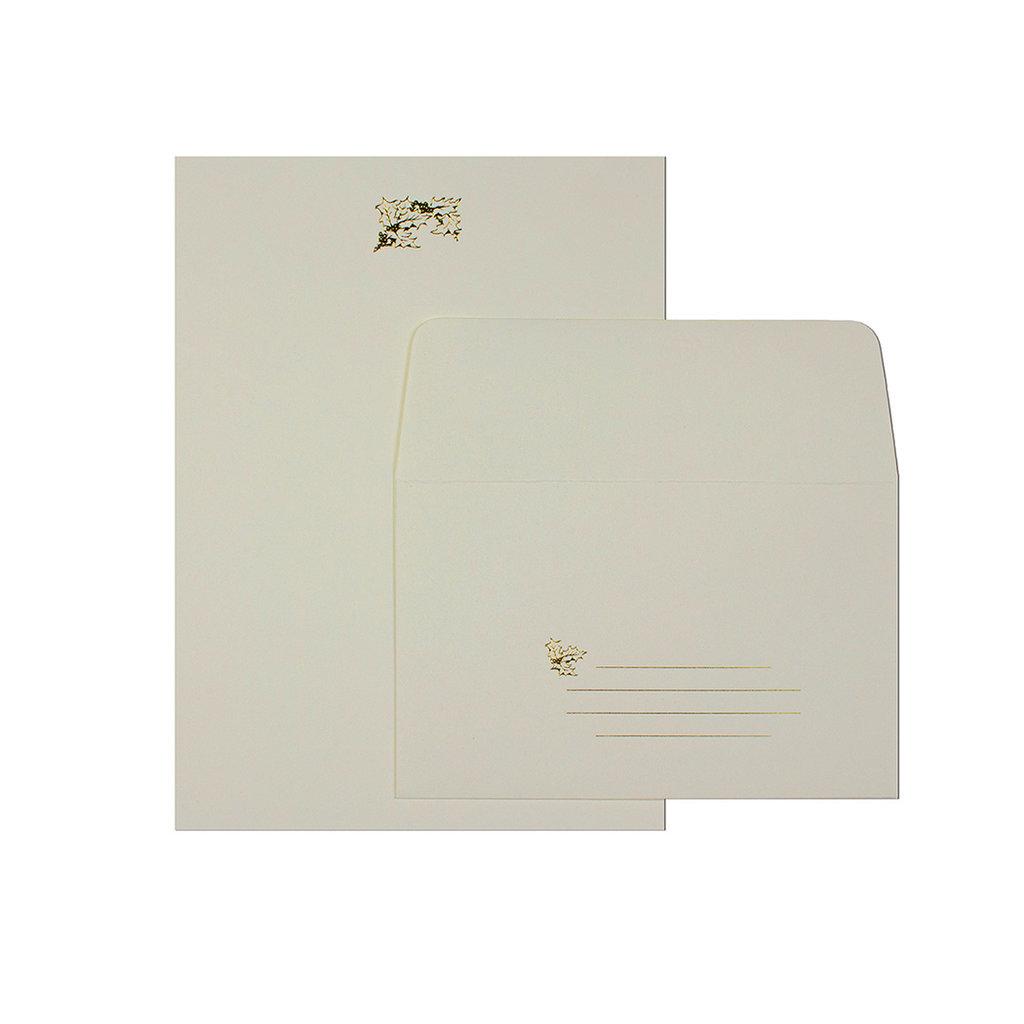 Oblation Papers & Press Holly Sprig Letter Set