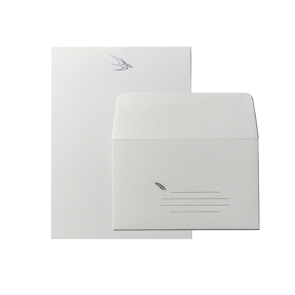 Oblation Papers & Press Bird With Pen Letter Set