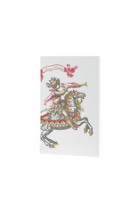 Oblation Papers & Press Merry Christmas Trumpet Horse