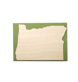 Oblation Papers & Press Die-Cut Birch Veneer Oregon Outline