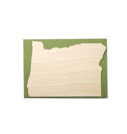 Oblation Papers & Press Die-Cut Birch Veneer Oregon Outline