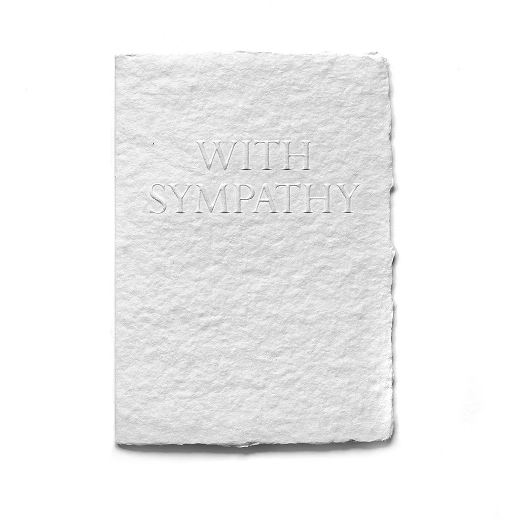 Oblation Papers & Press With Sympathy Serif Card