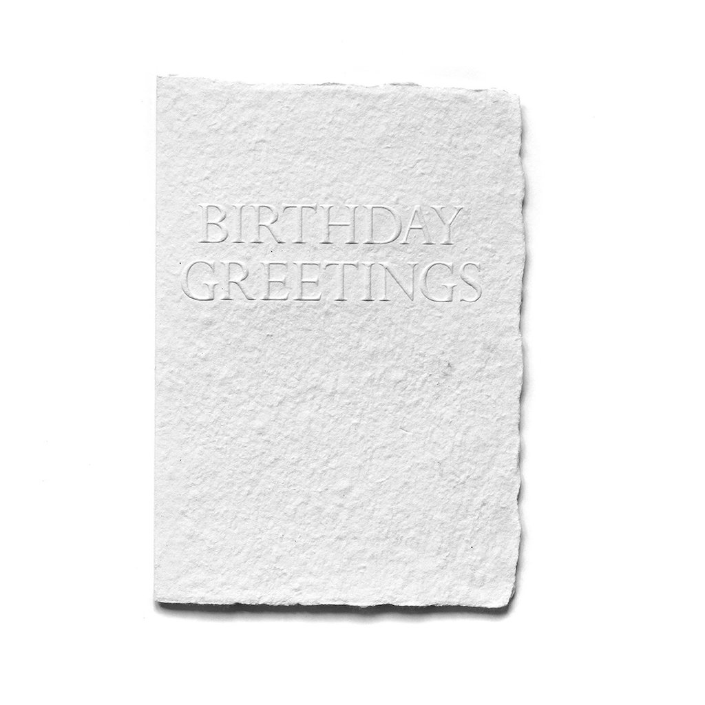 Oblation Papers & Press Birthday Greetings Serif Card