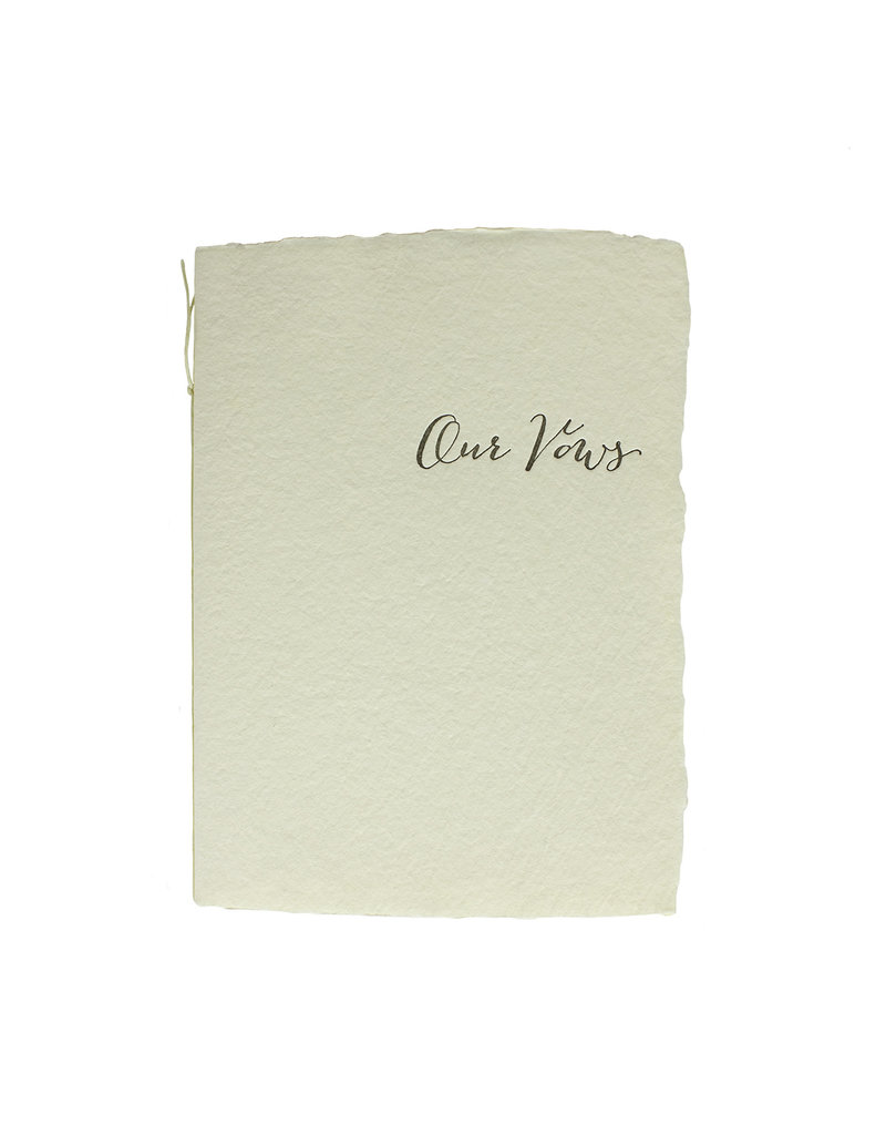 Oblation Papers & Press Our Vows Calligraphy Book