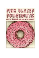 Hat + Wig + Glove Pink Glazed Sprinkle Doughnut Coasters