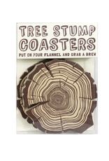 Hat + Wig + Glove Tree Stump Coasters
