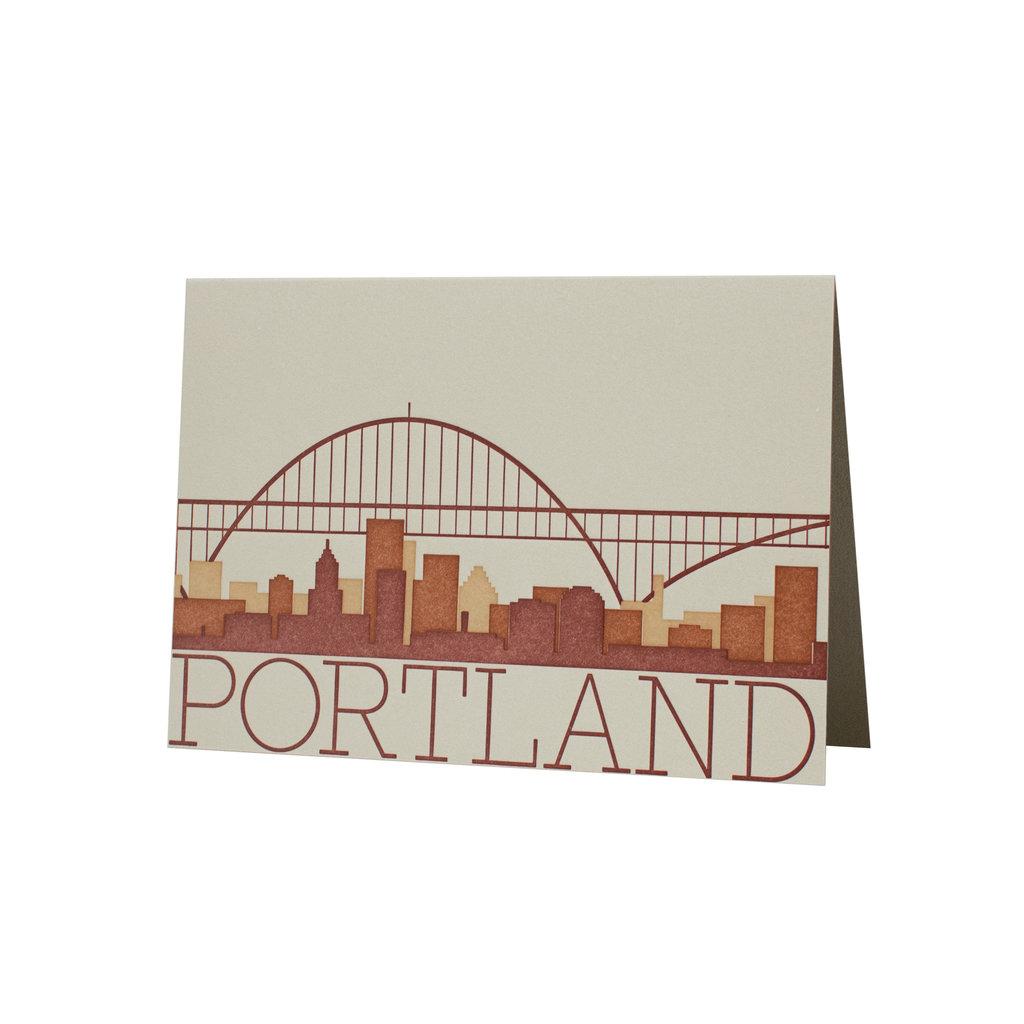 Oblation Papers & Press Portland Skyline Card