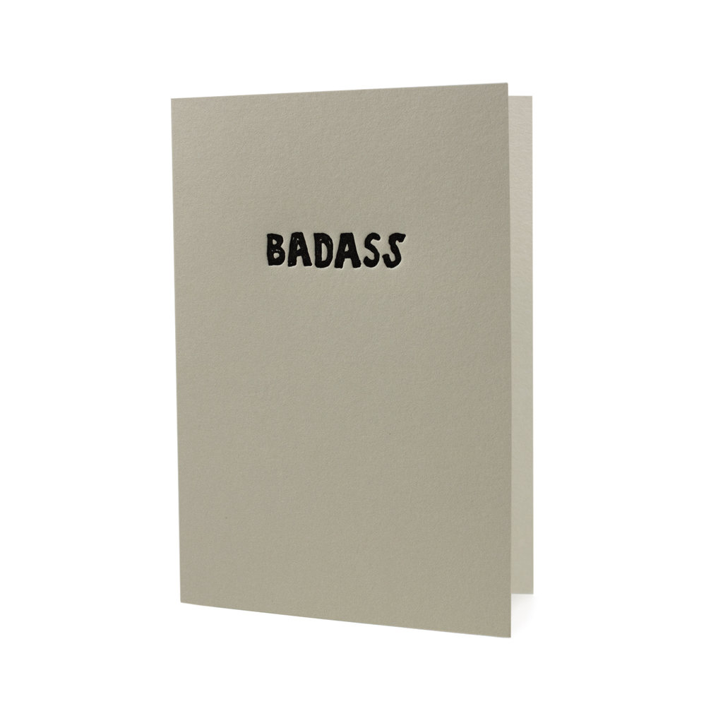 Hat + Wig + Glove badass letterpress card