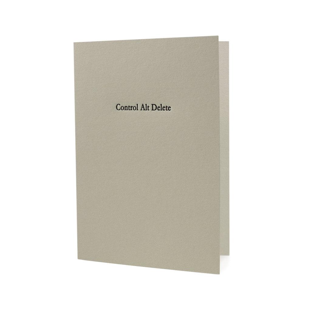 Hat + Wig + Glove control alt delete letterpress card
