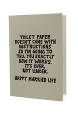Hat + Wig + Glove Toilet paper doesn't come with instructions Happy Married Life