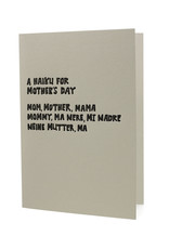 Hat + Wig + Glove A Haiku for Mother's Day letterpress card