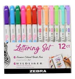 Mildliner Lettering Set 12 pack