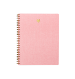 Appointed Heart Notebook in Blossom Pink