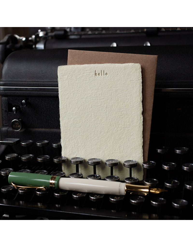 Oblation Papers & Press Hello Deckled Note