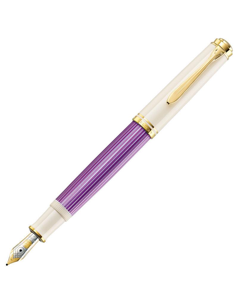 Pelikan Pelikan M600 Fountain Pen Violet White Special Edition Fine Nib
