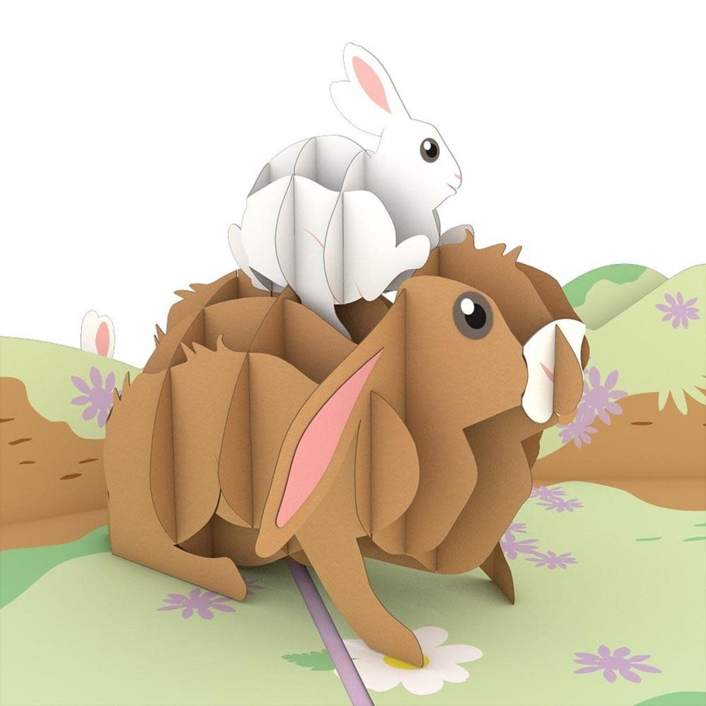 Lovepop Bunny Family Pop-Up Card