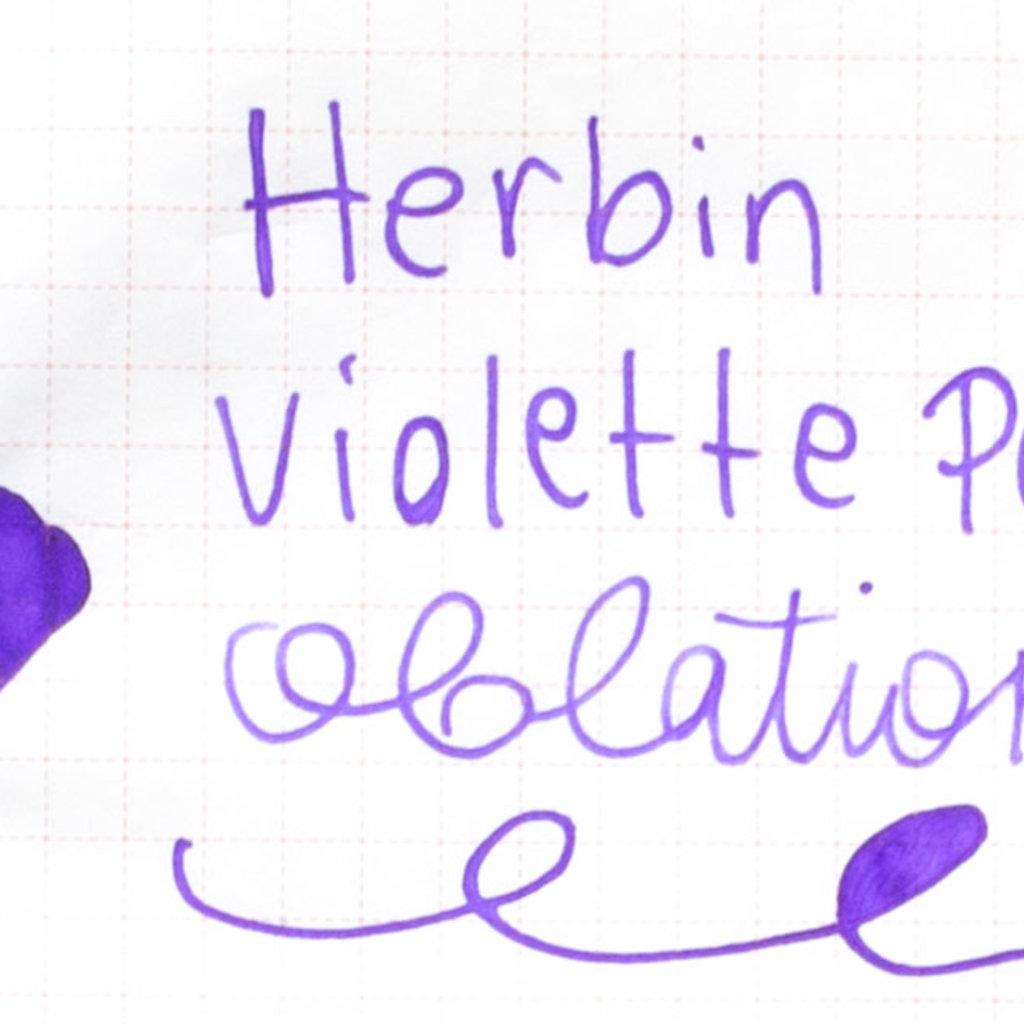 J. Herbin J Herbin Bottled Ink Violette Pensee