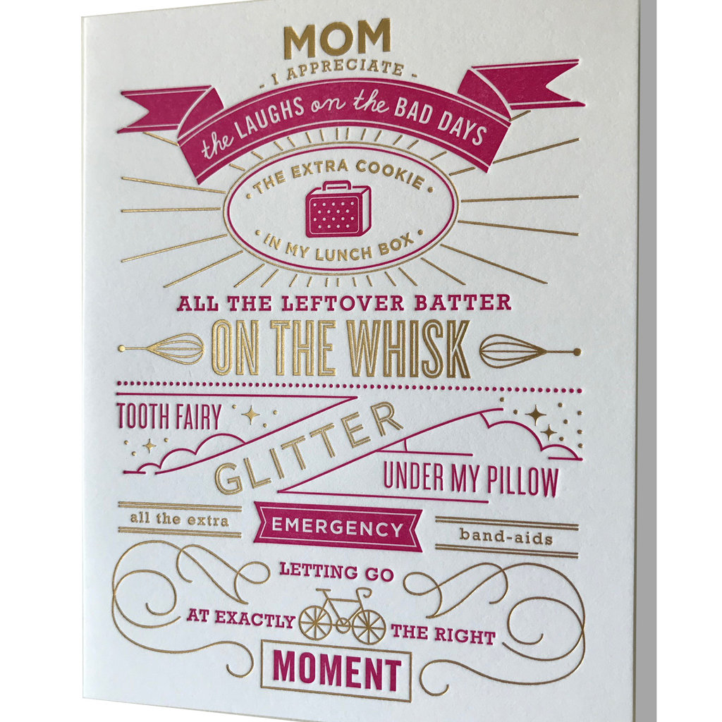 Elum Mother's Day Tooth Fairy Glitter Letterpress Card