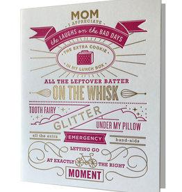 Elum Mother's Day Tooth Fairy Glitter Letterpress Card