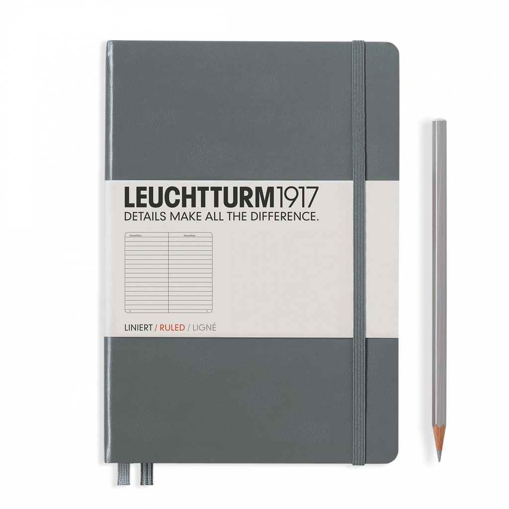 Leuchtturm A5 Anthracite Hardcover Notebook Ruled