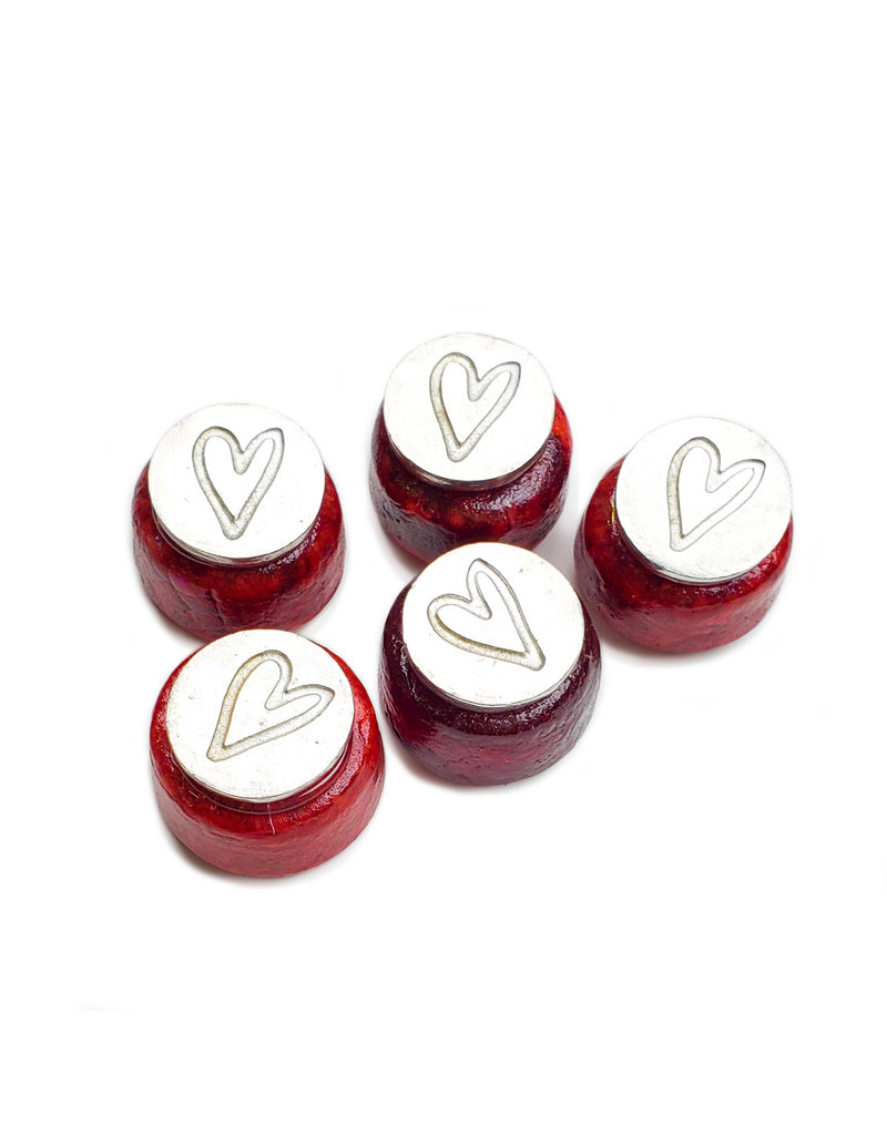 Small Glass Seal heart