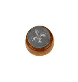 Small glass seal fleur de lis