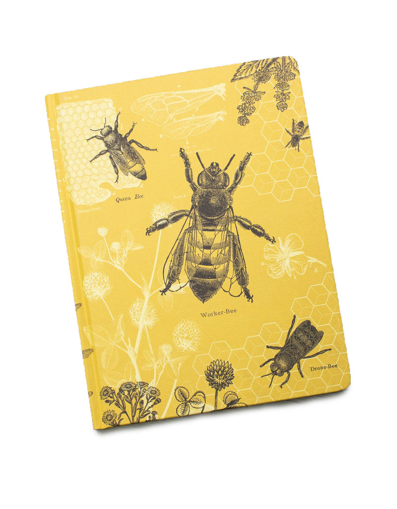 Honey Bees Hardcover Line/Grid Notebook