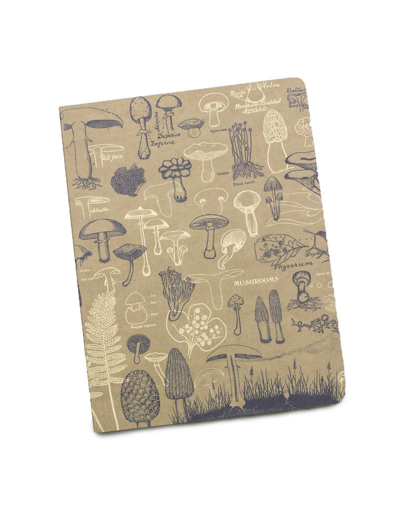 Mushrooms Softcover Lined Notebook