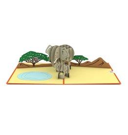 Lovepop Elephant Family Pop-Up Card