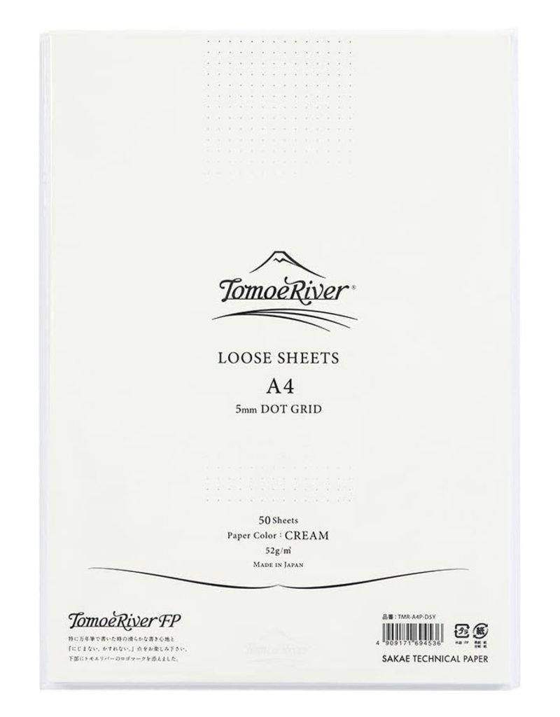 Tomoe River Tomoe River A4 Loose Sheets - Dot Grid Cream