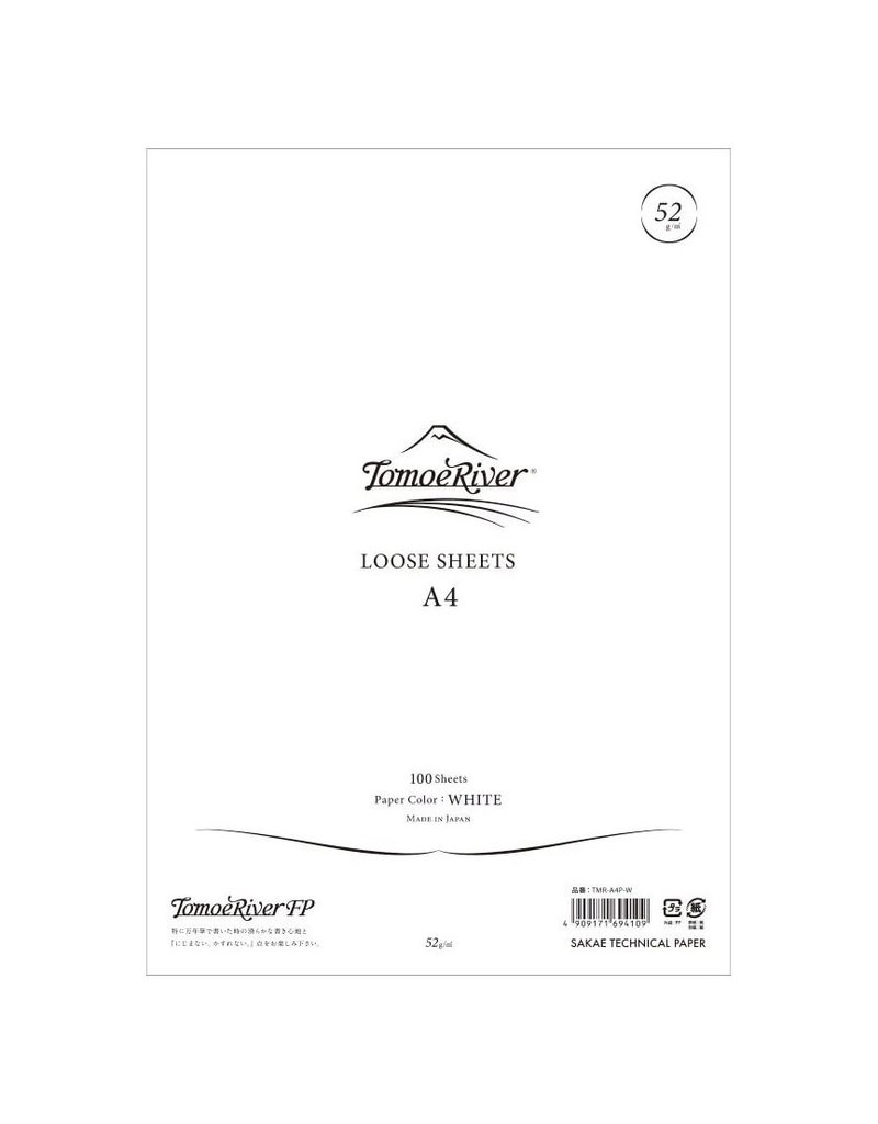 Tomoe River Tomoe River A4 Loose Sheets - Blank White
