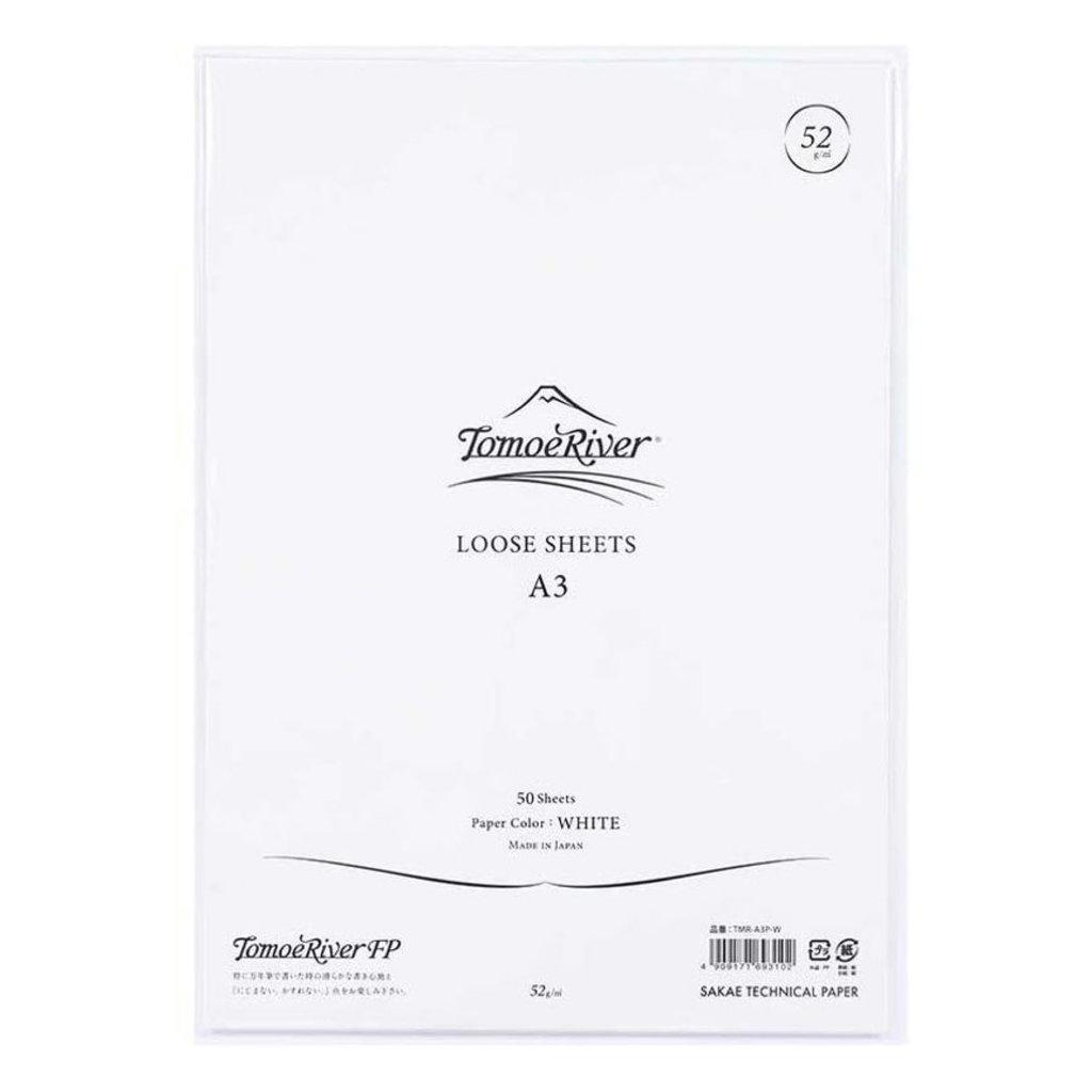 Tomoe River Tomoe River A3 Loose Sheet - Blank White