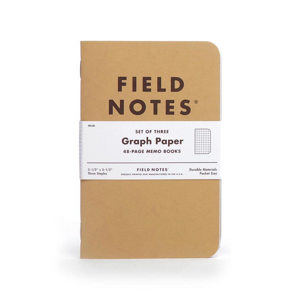 Field Notes Original Kraft 3-Pack Graph
