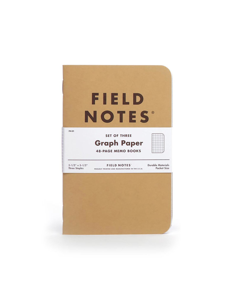 Field Notes Original Kraft 3-Pack Graph