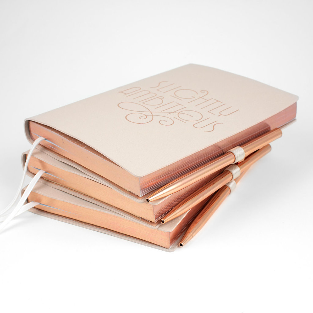 Fringe Ambitious Journal with Rose Gold Pen