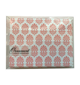 Pink Flowers Patterned Notecards