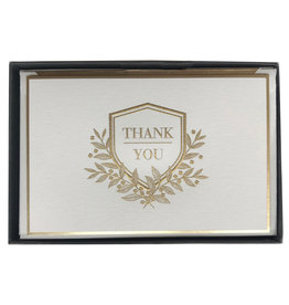 Engraved Shield Thank You Boxed Notes