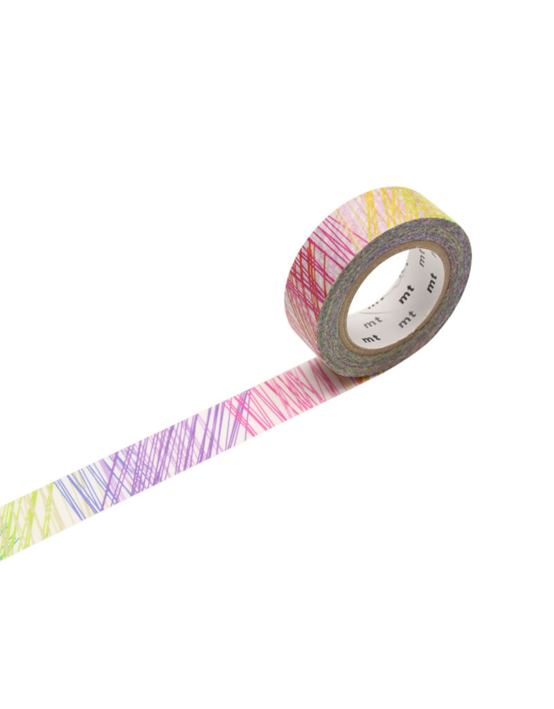 Rainbow Scribble Washi Tape