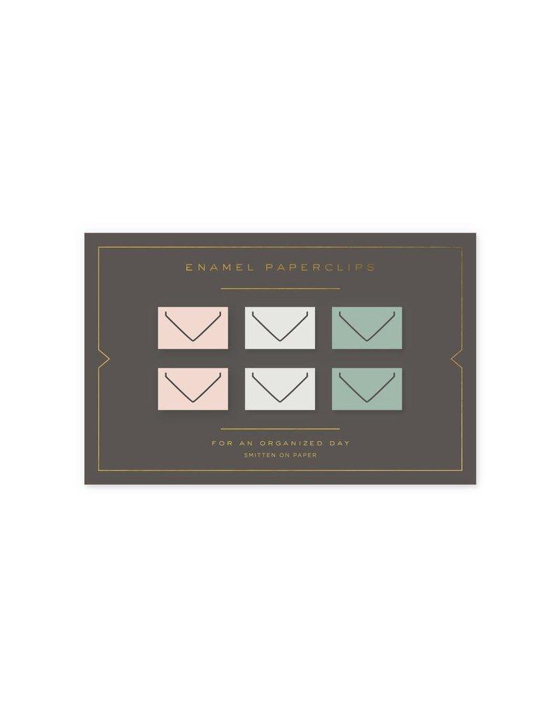 6 Enamel Paperclips