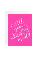 9th Letterpress Bridesmaid