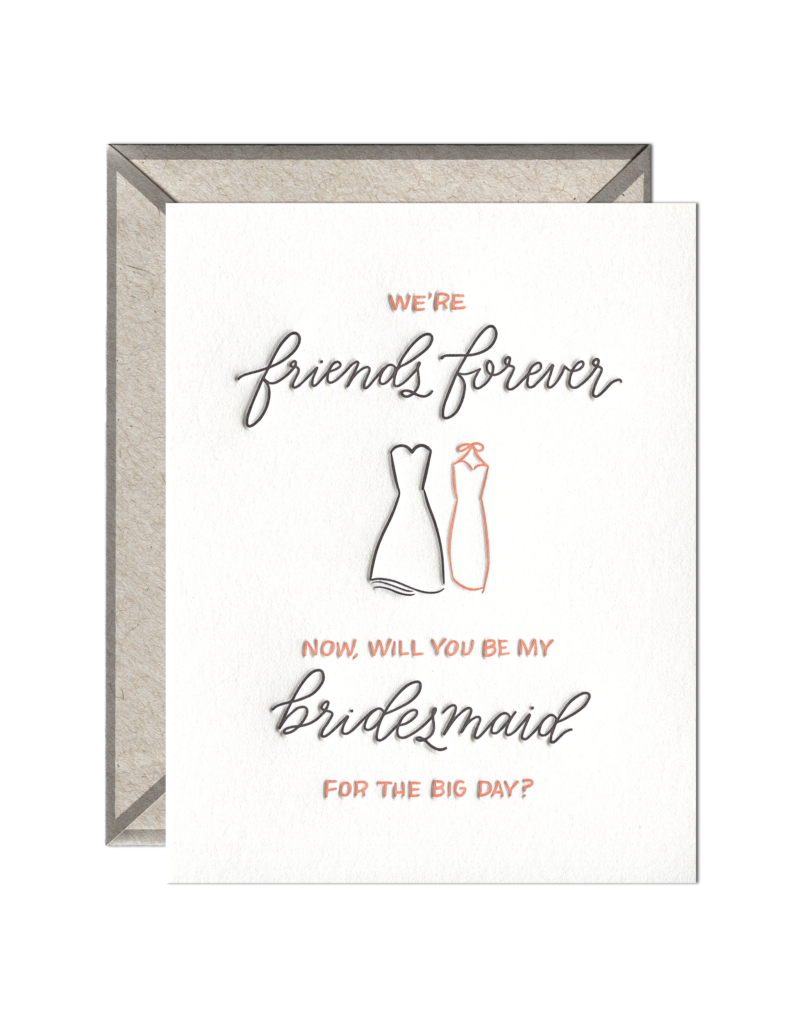 Ink Meets Paper Friends Forever Bridesmaid