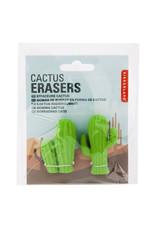 Kikkerland 2 Cactus Erasers