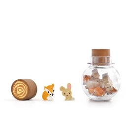 Kikkerland Fox and Rabbit Woodland Erasers