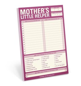 knock knock Mother's Little Helper Notepad