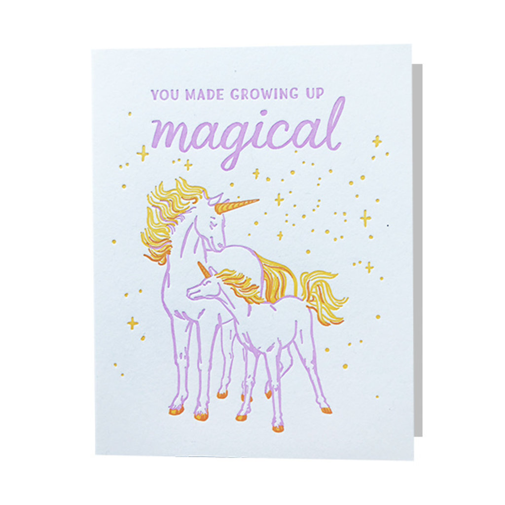 Smudge Ink You Made Growing Up Magical Letterpress Card