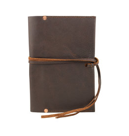 Charred Embers & Oak Leather Journal Cover and Pen Holder